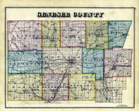 1876 Map of Genesee County, NY
