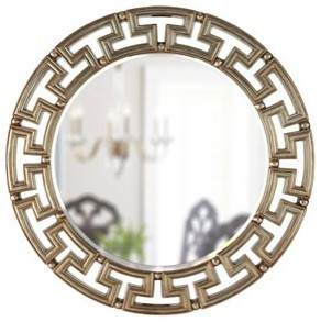 Golden Greek Key Mirror