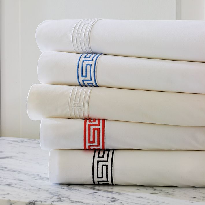 Williams-Sonoma Greek Key Bedding