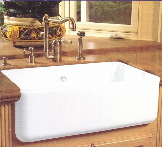Rohl Country Kitchen Faucet and Shaw's Fireclay Sink