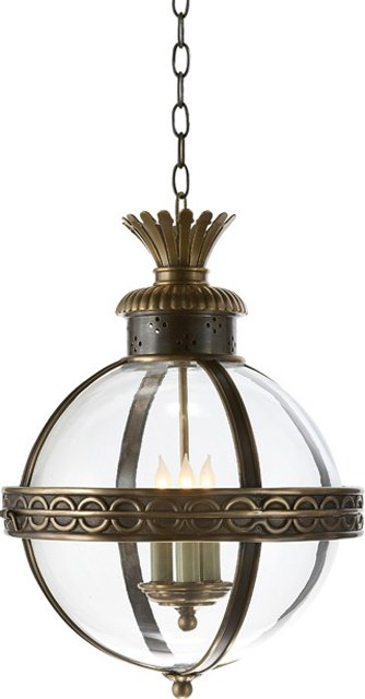 Crown Top Globe Light Fixture