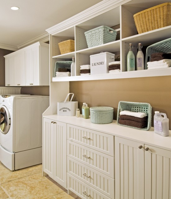 Laundry Room With Open Storage