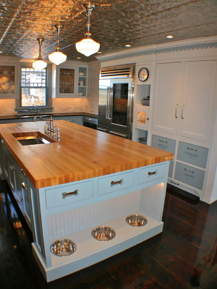 Artisan Kitchens - Dog Station In Island