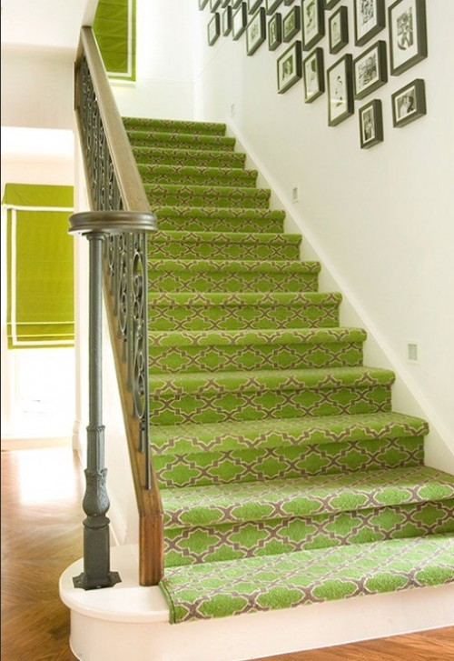 Green Stair Runner