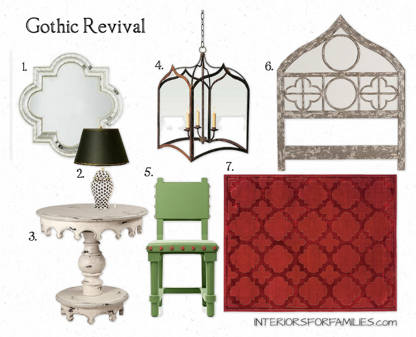 a gothic revival interiors for families