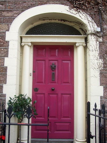 Fuschia Front Door