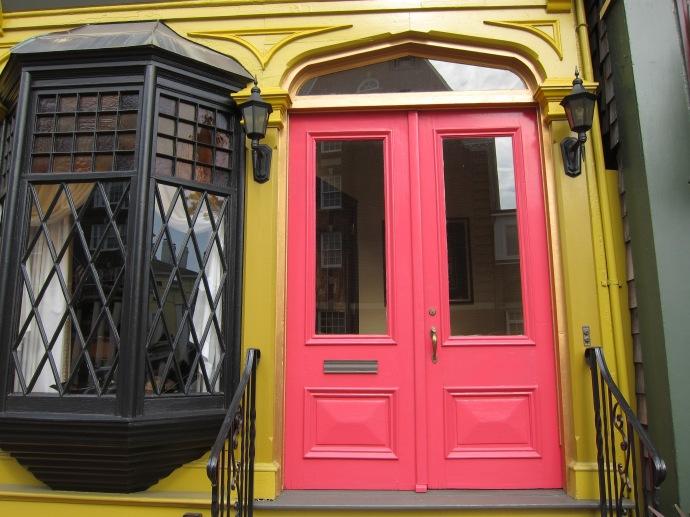 Pink and Mustard Facade