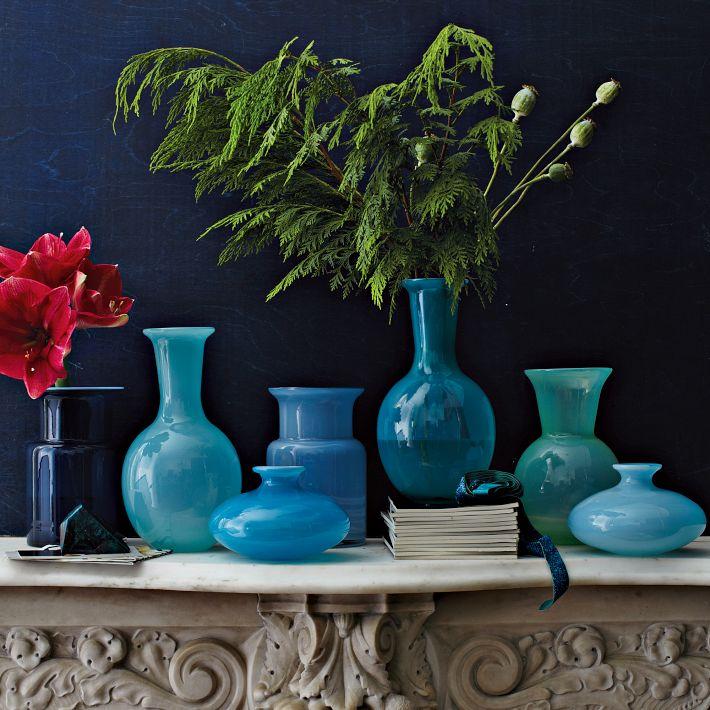 Flared Glass Vases - West Elm