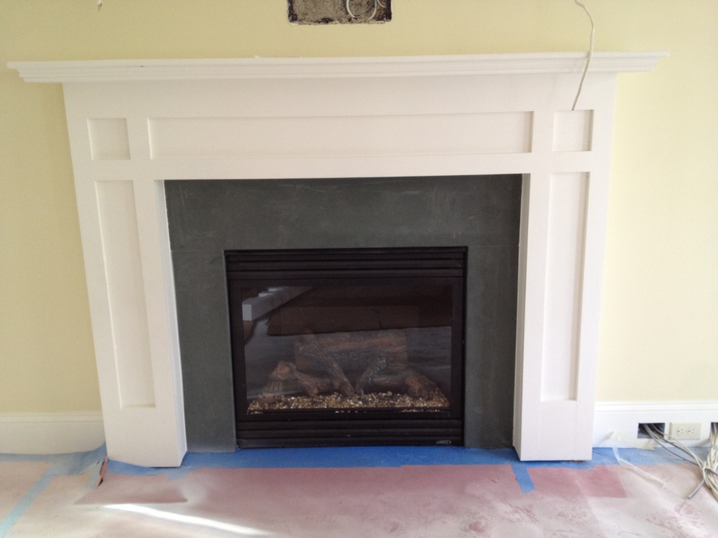Green Slate Fireplace Surround