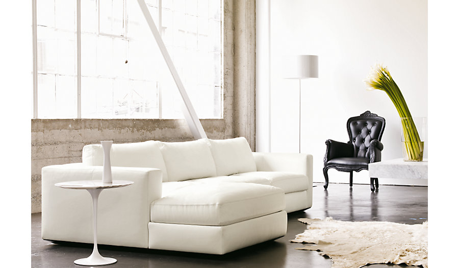 Reid Sectional   Design Within Reach (Ultrasuede Upholstery)