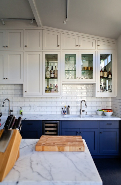 Kitcheninspo Navy Marble