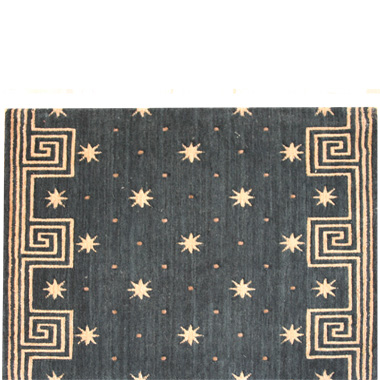 Celestial Runner with Greek Key Border
