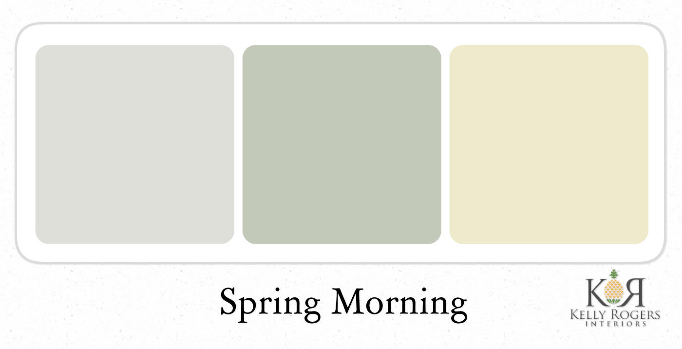 Spring Morning Soothing Bedroom Color Scheme | Kelly Rogers Interiors