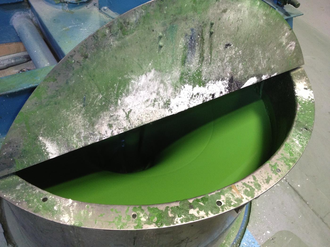 Green Paint @ California Paints plant