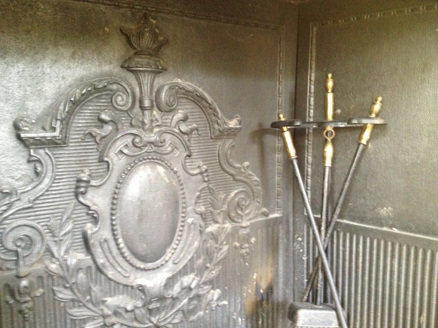 Victorian Firebox & Andirons