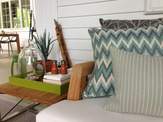 Secret Cove Show House 2013 - Cove View Porch. Designer: Barbara Elza Hirsch