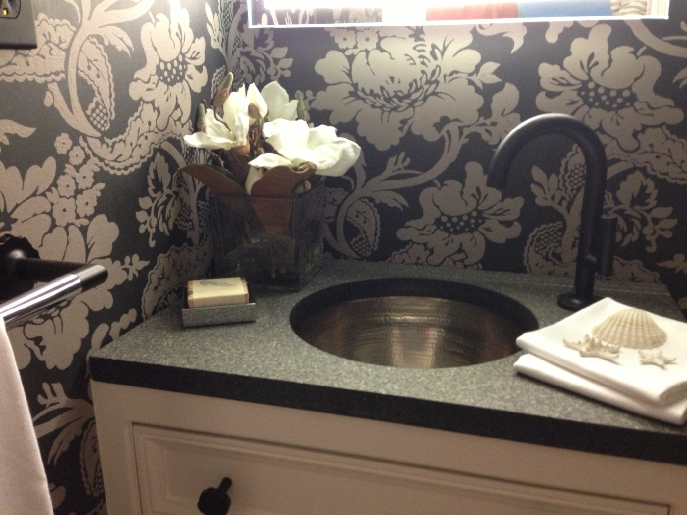 Secret Cove Show House 2013 - Powder Room. Designer: Yvonne Blacker