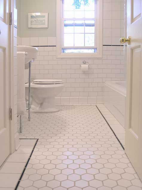 Black and White Bath - via Apartment Therapy