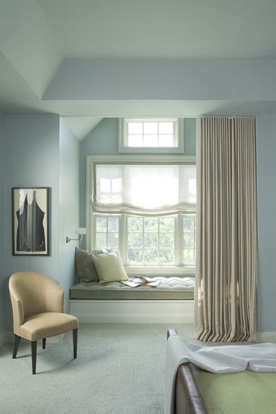Soft Blue Master Bedroom - via Interiors For Families