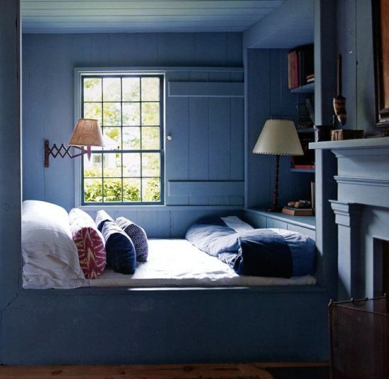 Cozy Sleeping Nook by Stephen Gambrel - via Interiors For Families