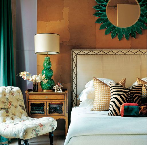 Eclectic Bedroom with Emerald Green Accents | Trendy vs. Timeless: Getting the Balance Right | Interiors For Families