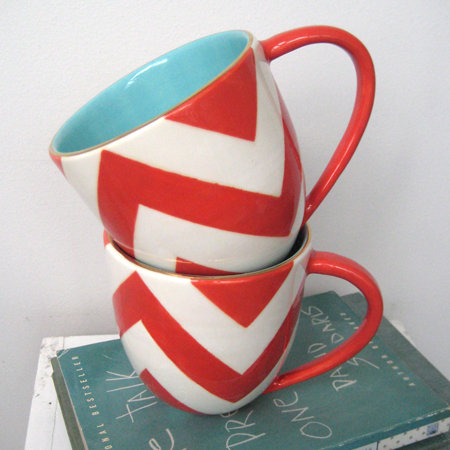 Buckley Chevron Mug by Jill Rosenwald | Trendy vs. Timeless: Getting the Balance Right | Interiors For Families