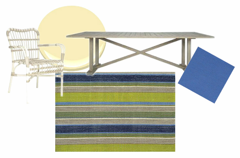Deck Scheme with Marina Stripe Rug (Dash & Albert) | via Interiors For Families