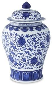 Blue & White Temple Jar