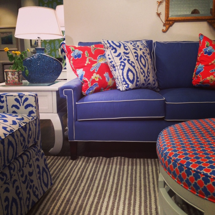 Insta-Highlights from High Point Spring 2015 | Dana Gibson Collection at MT Company | via Interiors for Families