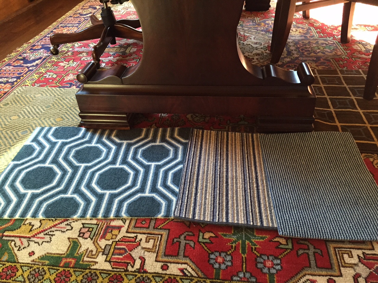 One Room Challenge Fall 2015, Week 2 - Carpet Samples | Kelly Rogers Interiors | Interiors for Families