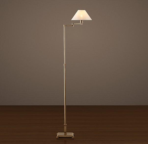 Restoration Hardware Petite Candlestick Swing-Arm Floor Lamp