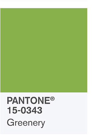 "Pantone 2017 Color of the Year ""Greenery"" 