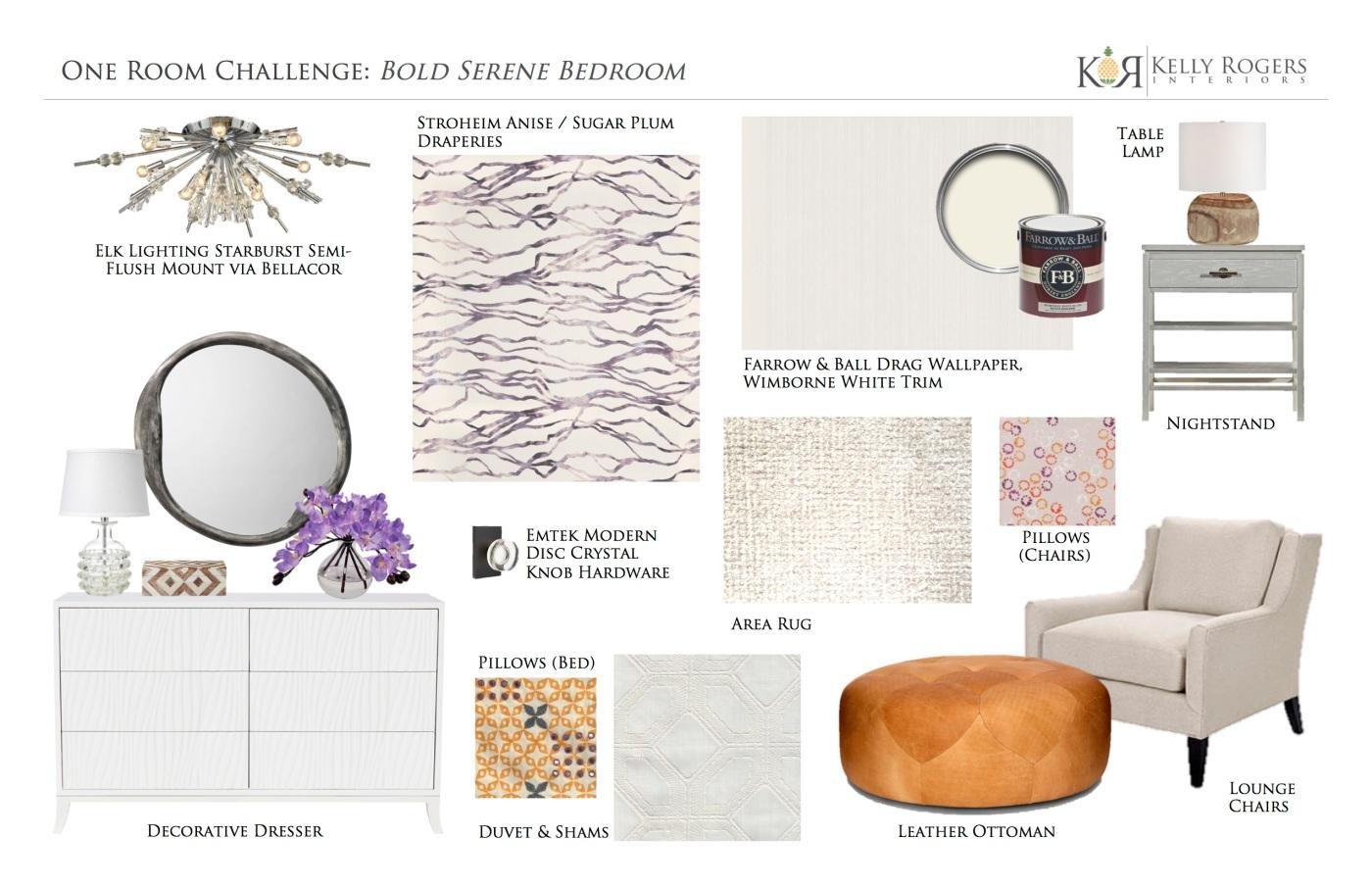 One Room Challenge Week 1: Bold Serene Bedroom